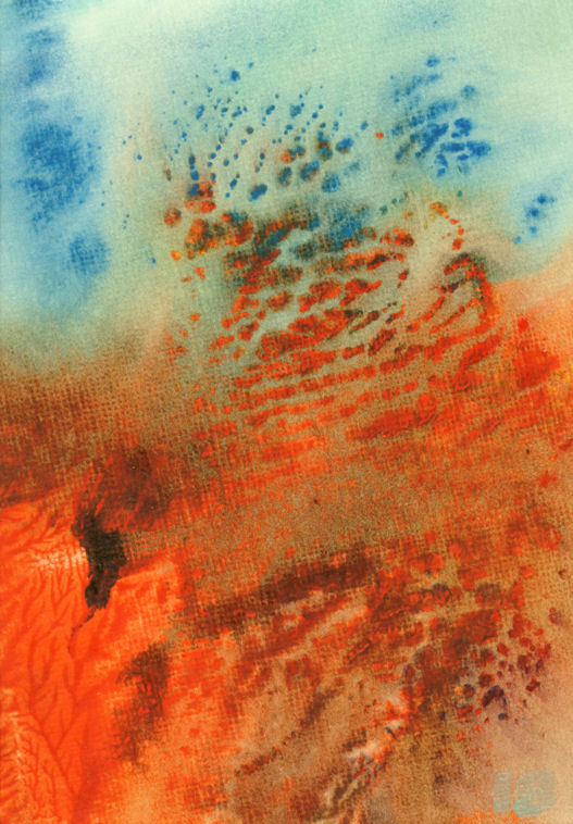 Earth wind and fire monoprint